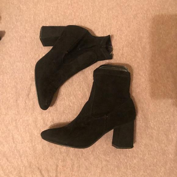 Boohoo Shoes   Boohoo Black Sock Boots